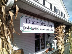 The front of our, now closed, gift shop.