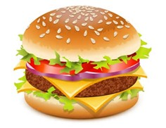I did not create this hamburger image but I am respectfully using it for my post.  Looks really good by the way!