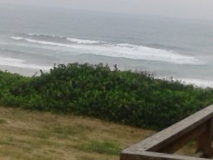 The Pacific Ocean on an overcast day.  Still stunning!