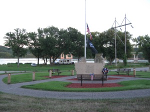 The Dubuque City Park had a lovely veteran memorial.
