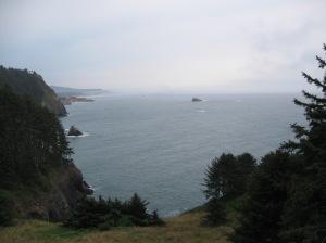 Pacific Coastline via Oregon.