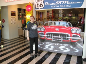 The Route 66 Museum in Clinton is well worth the stop!!  It is a lot of fun!!