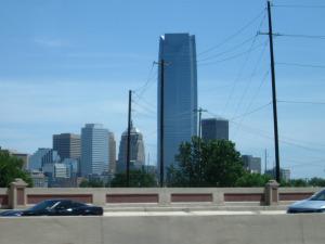A far away shot of Oklahoma City, Oklahoma.