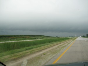 The sky did get scary a couple of times, but nothing really happened.  Just looked menacing.